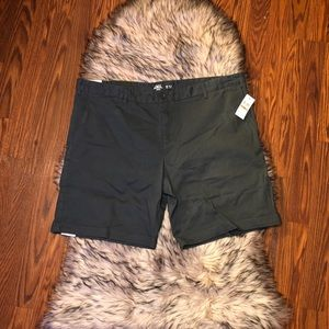 IZOD Relaxed Flat Front Chino Shorts with Stretch